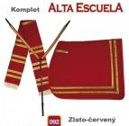 Komplet Alta Escuela - zlato-červený