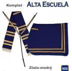 Komplet Alta Escuela - zlato-modrý