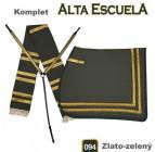 Komplet Alta Escuela - zlato-zelený