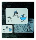 Koník s kočárkem (modrý)