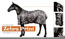 Letní deka pro koně ' Zebra Print '