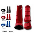 Neoprénové chrániče PROTECH + zvony, červené L