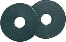 Ochranný kroužek na udidlo, gumový, velký - barva černá