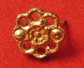Ozdoba - květina 2 - zlato