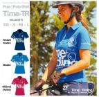 Tričko POLO TIME-TR - dámské modré: L