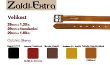 Třmenové řemeny Zaldi Exta 29 mm x standard- černé