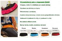 Víceúčelový pás s kapsami Zaldi - černý - L/XL