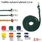 Vodítko nylonové pletené - 2.5 m - červeno-žlutá