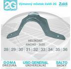 Výměnný můstek Zaldi 2G Drezurní, velikost