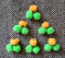 Gumička do hřívy s bambulkami - oranžovo-zelená